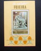 """FJ021 - FUJIERA - 1972 """" La PIETA' Di Michelangelo  """" Foglietto Timbrati Nuovi - Fujeira"""