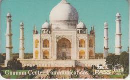 FRANCE - Tajmahal, Gnanam Center Communications/Tel & Pass Prepaid Card 75 Units, Exp.date 08/97, Used - France