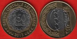 """Comores (Comoros) 250 Francs 2013 """"Central Bank"""" BiMetallic UNC - Comores"""