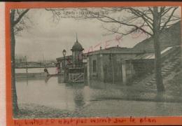 CPA 75 PARIS  INONDE  Crue De La Seine  1910  Porte De Billancourt  Boulevard Murat  Animé    FEVR  2016 471 - Paris Flood, 1910