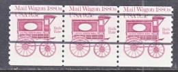 US  1903 A X 3    **   MIS CUT  HIGH  MAIL  WAGON - Coils & Coil Singles