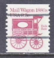 U.S.  1903 A  PLATE 1  (o)    MAIL  WAGON - Coils (Plate Numbers)