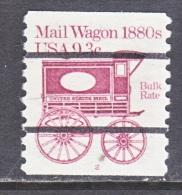 U.S.  1903 A  PLATE 2  (o)    MAIL  WAGON - Coils (Plate Numbers)