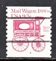 U.S.  1903 A  PLATE 4  (o)    MAIL  WAGON - Coils (Plate Numbers)