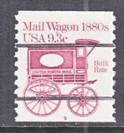 U.S.  1903 A  PLATE 5  (o)    MAIL  WAGON - Coils (Plate Numbers)