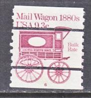 U.S.  1903 A  PLATE 6  (o)    MAIL  WAGON - Coils (Plate Numbers)