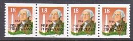 U.S.  2149 A X 4    PLATE 33333  **  WASHINGTON - Coils (Plate Numbers)