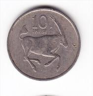 1989 Botswana 10 Thebe  Coin - Botswana