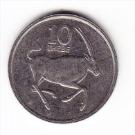 1984 Botswana 10 Thebe  Coin - Botswana