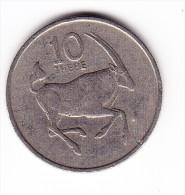 1980 Botswana 10 Thebe  Coin - Botswana