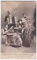 1904 Souvenir Du Passage De La Troupe Fallone, Jazz Music Musique Instrument Instruments, Accordion Violin Banjo Drum - Música Y Músicos