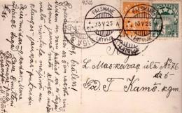 LATVIA-LETTLAND-STAMPS-POSTCARD-CANCEL-PALSMANE-A-13.5.1925. - Letonia