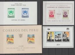 BELGIQUE+PERU+ARGENTINE+LIBERIA   REFUGIE 1960 **MNH      Réf  C765 - Refugees