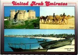 DUBAI JUMAIRA BEACH UNITED ARAB EMIRATES UAE MULTIVIEWS POSTCARD (2 SCANS) - Dubai