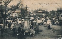 32 - SEISSAN - Gers - Place Carnot Et Foirail - Un Jour De Marché - Andere Gemeenten