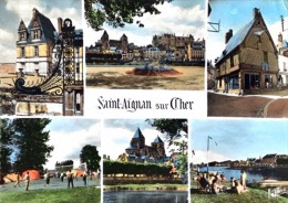 = Saint  Aignan Sur Cher - La Vallée Du Cher - CP Multivues - Saint Aignan