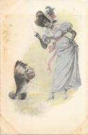 Précieuse Et Son Chien - Tongimed Série 4016 - Carte Précurseur, Non Circulée - Vrouwen