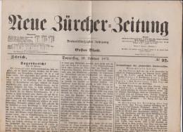 Sammlung Von 72 Ausgaben Zürcher ZeitungÃugust 1914 Vor Beginn 1.Weltkrieg + Einige 1873 - Magazines: Abonnements