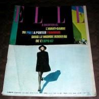 ELLE.  1967. 1133. A MONTREAL L' AVANT GARDE DU PRET A PORTE FRANCAIS. HARDY. DUTRONC. DELON.TINTIN - Fashion