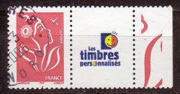 FRANCE - 2005 - YT  N° 3741A  - Oblitéré - Marianne Lamouche Avec Logo TP Perso - Personalisiert