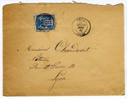 Oblitération De Feurs Sur Enveloppe Pour Lyon En 1881    Référence 379 - 1877-1920: Période Semi Moderne