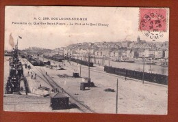 1 Cpa BOULOGNE SUR MER : PANORAMA DU QUARTIER SAINT PIERRE, LE PORT ET LA QUAI CHANZY - Boulogne Sur Mer