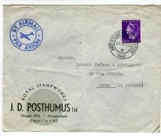 Enveloppe Pour Lyon Par Avion En 1947    Référence 390 - Periodo 1891 – 1948 (Wilhelmina)