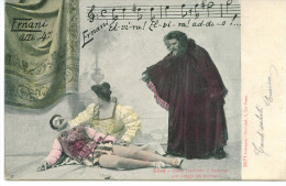 OPERA ERNANI GIUSEPPE VERDI ACT 4 ALTEROCCA-TERNI 1904 CIRCULATED POSTCARD - Opéra