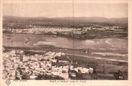 MAROC SALE ET RABAT VUES EN AVION PAS CIRCULEE - Rabat