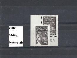Variété De 2002 Neuf** Y&T N° 3444c Brun-clair Au Lieu De Bistre-noir - Varieteiten: 2000-09 Postfris