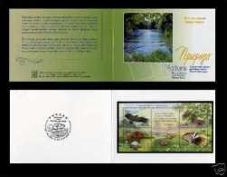 Russia 2005 Fauna Belarus Joint Issue Nature Wild Animals Eagle Butterfly Beaver Badger Flower Plant Stamps Michel BL79 - Adler & Greifvögel