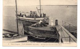 Gironde : Le Cap Ferret : Arrivée Du Courrier D'Arcachon - Autres Communes