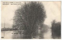 92 - BOULOGNE - Crue De La Seine - 30 Janvier 1910 - Quai Président Carnot - ELD - Boulogne Billancourt