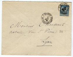 """Oblitération De """" St Etienne Quartier De La Badouillere """" Sur Enveloppe Pour Lyon En 1885   Référence 414 - Marcophilie (Lettres)"""
