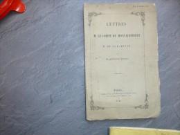 Lettres à M. Le Comte De Montalembert Et à M De Lamartine, Par Un Gentilhomme POLONAIS, 1845  ; Ref C 25 - Livres, BD, Revues