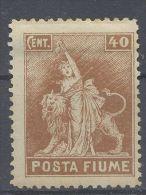 Fiume 1919 Posta Fiume Cent. 40 - Fiume