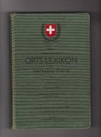 Handbuch Neues Schweizerisches Ortslexikon 1940 Von Arthur Jacot Postverwalter - Administrations Postales