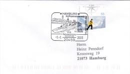 Fregate Hamburg At The 818. Hafengeburtstag P/m Hamburg 2005 Cover (SKO1-43) - Ships