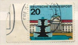 Deutschland 1964 Mi 420 Linker Rand Gestempelt, Wiesbaden, Kurhaus. Hauptstädte Der Länder, Y&T 292 - Used Stamps