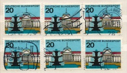 Deutschland 1964 Mi 420 6x Gestempelt, Wiesbaden, Kurhaus. Hauptstädte Der Länder, Y&T 292 - Used Stamps