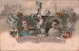 ! Alte Ansichtskarte Hochzeit Des Deutschen Kronprinzenpaares, Burg Hohenzollern, Schwerin In Mecklenburg, Adel, Royalty - Schwerin