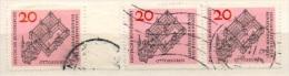 Deutschland 1964 Mi 428 3x Gestempelt, Rechter Rand, Waagerechtes Paar, Benediktinerabtei Ottobeuren, Sc 880, YT 296 - Gebraucht