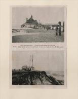 Illustration : 1913 A Southwold  L'assaut Quotidien De La Mer  Un Sémaphore  Angleterre - Vieux Papiers