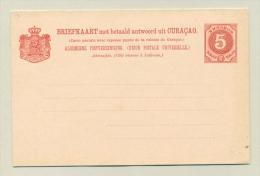 Curacao - 1891 - 5+5 Cent Cijfer Briefkaart - Geuzendam 12 - Curaçao, Nederlandse Antillen, Aruba