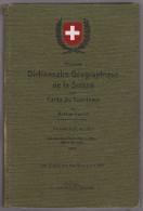 Handbuch Dictionnaire Géographique De La Suisse 18e Edition D'Arthur Jacot 1949 - Handbücher