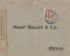 """Lettre De Goteborg (suede) Pour Le Havre - Cachet De Censure """" Controle Postal De Dieppe - 3 Scan"""