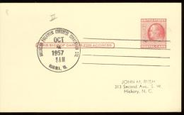 POST CARD  Scott UX 38 -  NORFOLK 1957  - AMERICAN PHIL. CONGRESS CONV. STA. - 1941-60