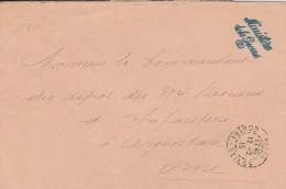 Lettre   De 1915  Du Minister De La Guerre - Cachet  Ministère + Cachet  Paris  Contre-seings - 3 Scan