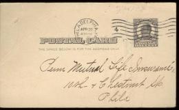 POST CARD  Scott UX 19 -  PHILA.  1909 - MCKINLEY - - 1901-20