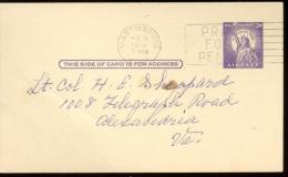 POST CARD  Scott UX 40  - MARTINSBURG 1959   - STATUE LIBERTY - 1941-60